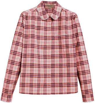 Burberry beadwork detail check shirt