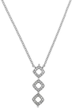 Carriere JEWELRY Three-Diamond Sterling Silver & Diamond Pendant Necklace