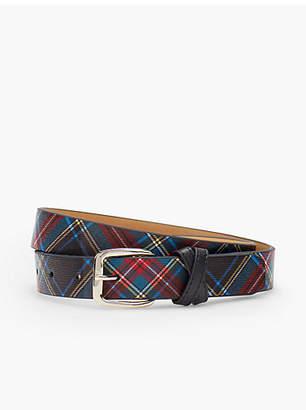 Talbots Black Watch Plaid Belt