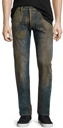 PRPS Extracting Distressed Slim-Straight Jeans, Indigo $425 thestylecure.com