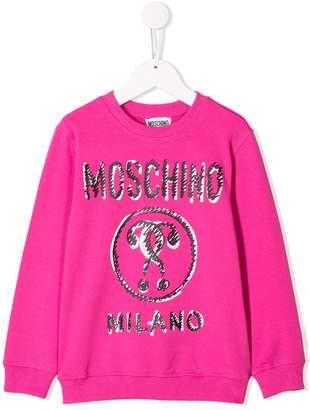 Moschino Kids scribble print sweater