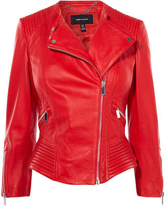 Karen Millen Red Biker Jacket