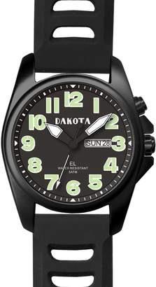 Dakota Men's Steel Angler with Leather Band Watch