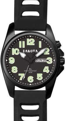 Dakota Men's Steel Angler with Leather Band Watch