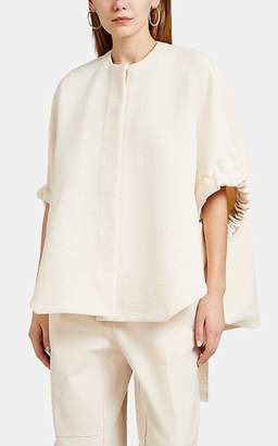 Jil Sander Women's Cotton-Blend Bouclé Cape Top - Beige, Tan
