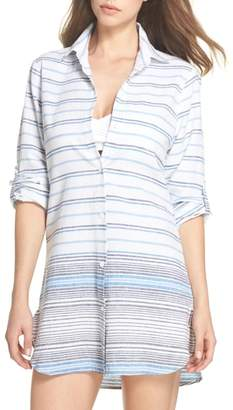 Tommy Bahama Stripe Linen & Cotton Cover-Up Tunic
