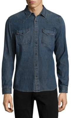 AG Jeans Denim Cotton Long-Sleeve Casual Button Down