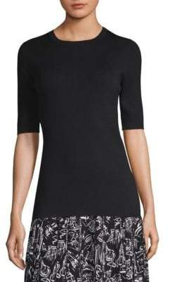 Lafayette 148 New York Slim Fit Silk Sweater