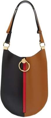 Marni Earring Colour Block Leather Shoulder Bag - Womens - Black Multi