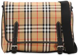 Burberry Check Cotton & Nylon Messenger Bag