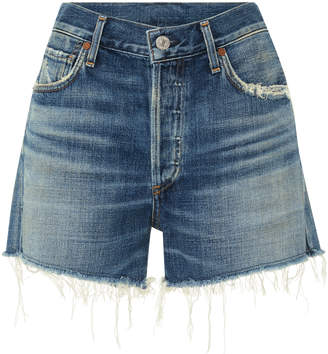 Citizens of Humanity Nikki Distressed High-Rise Denim Shorts