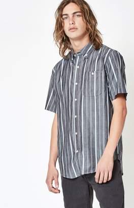 Ezekiel Winger Striped Short Sleeve Button Up Shirt