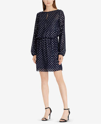 American Living Metallic Dot-Print Dress