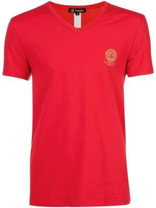 Versace v-neck Medusa logo T-shirt
