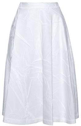Jil Sander Pleated Crinkled Cotton-Blend Skirt