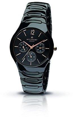 Accurist mb990bレディースブラックセラミック時計