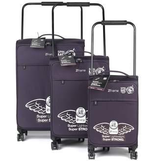 ZFrame 8 Wheel 3 Piece Luggage Set - Purple