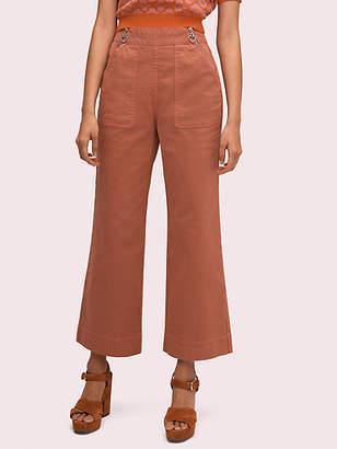 Kate Spade Denim Zip Flare Pant, Fresh White - Size 24