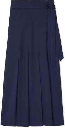 Tory Sport TWO-TONE PLEATED WRAP SKIRT
