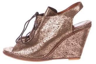 Rachel Comey Metallic Leather Wedge Sandals
