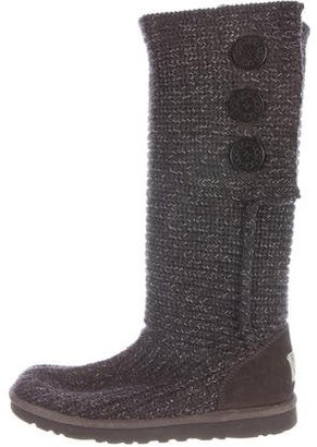 UGG Australia Classic Cardy Knit Boots $125 thestylecure.com