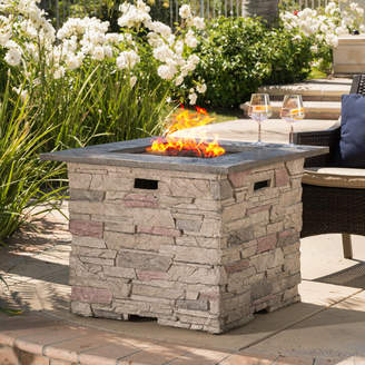 Playa Home Loft Concepts Stone Propane Fire Pit Table