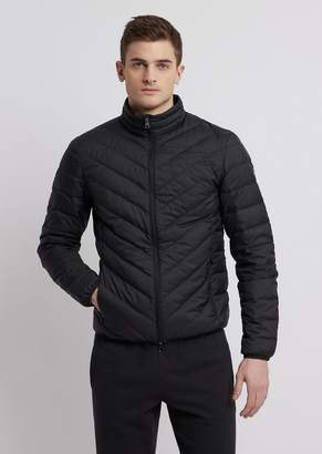 Emporio Armani Ea7 Full-Zip Technical Fabric Down Jacket