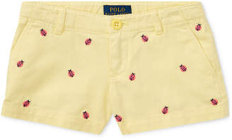 Polo Ralph Lauren Ralph Lauren Ladybug Cotton Shorts, Toddler Girls