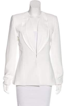Brandon Maxwell Tailored Layered Lapel Blazer