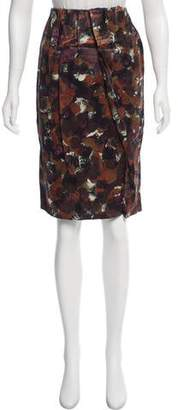 Tia Cibani Draped Tulip Silk Skirt w/ Tags