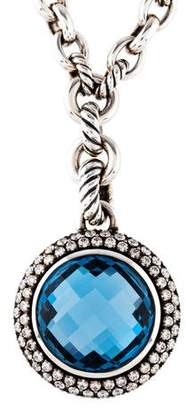 David Yurman Topaz & Diamond Cerise Pendant Necklace