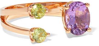 Delfina Delettrez 18-karat Gold, Amethyst And Peridot Ring