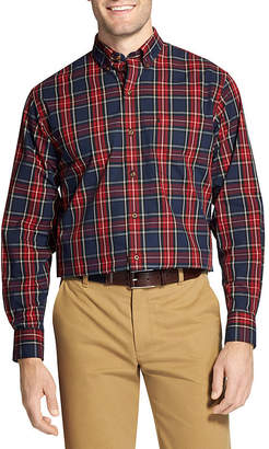Izod Holiday Tartan Long Sleeve Button-Down Shirt