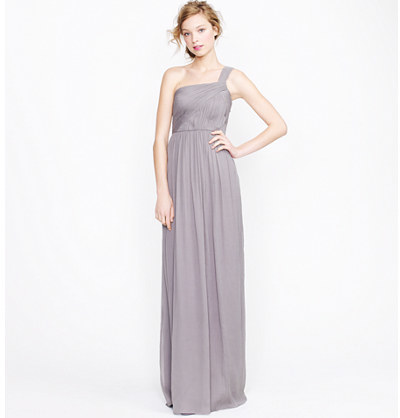 J.Crew Petite Lucienne long dress in silk chiffon