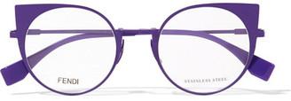 Fendi - Cat-eye Metal Optical Glasses - Purple $365 thestylecure.com