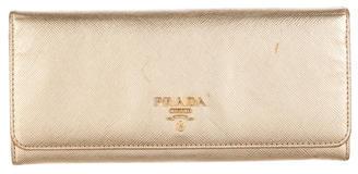 pradaPrada Saffiano Continental Wallet