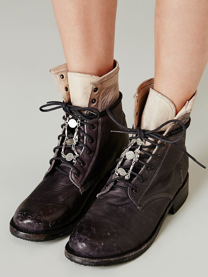Free People Lace In Coin Boot Jewelry