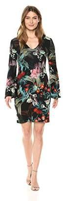 Karen Kane Women's V-Neck Bell Sleeve Dress