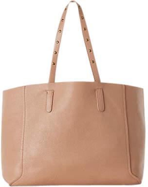 Gerard Darel Simple 2 Leather Tote Bag, Beige