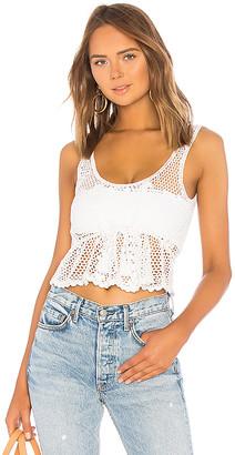 LPA Crochet Drawstring Crop Top