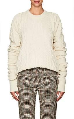 Y/Project Women's Elongated-Cuff Wool-Alpaca Sweater