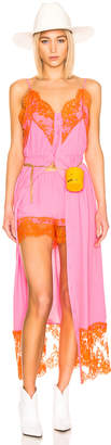 MSGM Lace Maxi Dress & Short Set in Pink | FWRD