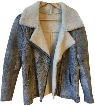 Sandro Grey Leather Coats