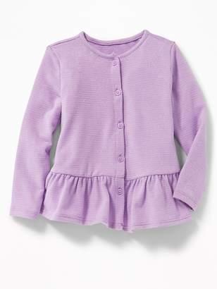 Old Navy Peplum-Hem Metallic-Stripe Top for Toddler Girls
