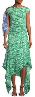 Tanya Taylor Carita Ditsy Floral-Print Midi Dress