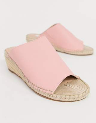Matt & Nat espadrille slip on wedges in pink