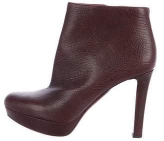 Alexander McQueen Leather Platform Ankle Boots