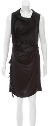 Edun Fringe-Accented Silk Dress