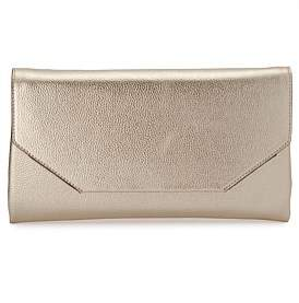 Olga Berg Emma Metallic Clutch