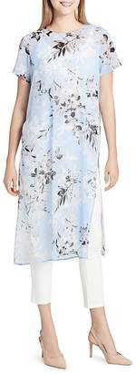 Calvin Klein Long Floral-Print Tunic Top